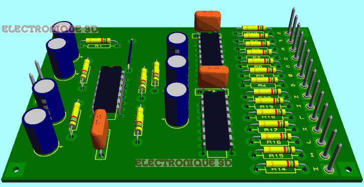 electronique 3d jeu de lumi re al atoire. Black Bedroom Furniture Sets. Home Design Ideas