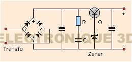 Regulation a transistor